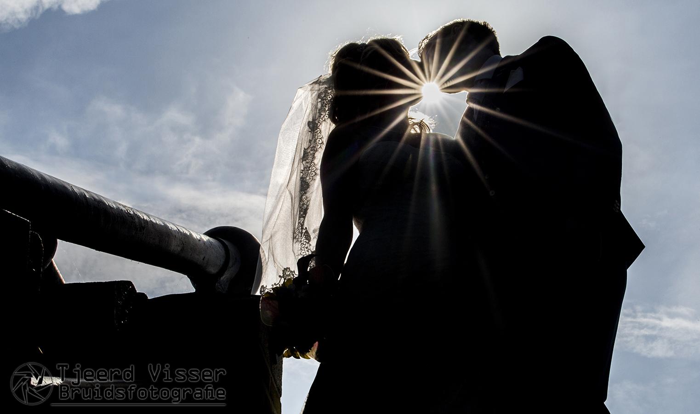 Zonnestralen verbinden de liefde voor eeuwig.