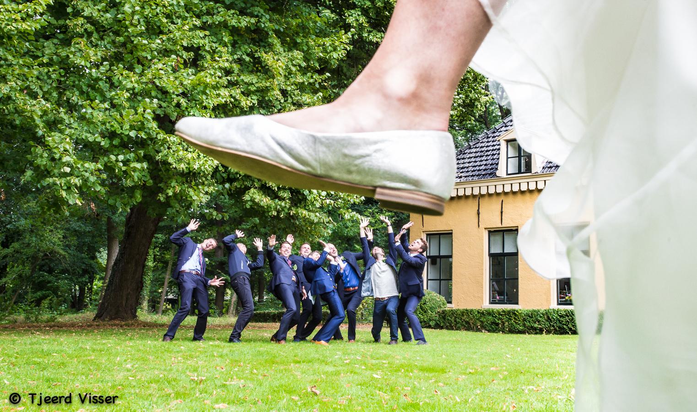 De bruid staat boven de rest!